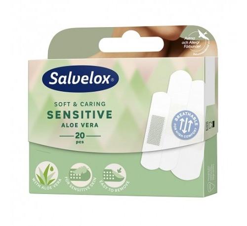 Salvelox sensitive - aposito adhesivo aloe vera (varios tamaños 20 apositos)