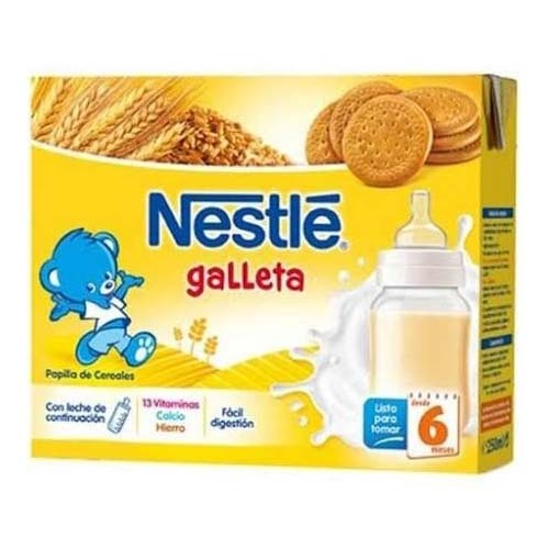 Nestle papilla  galleta lista para tomar (brik 250 ml 2 u)