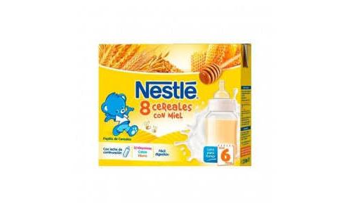 Nestle papilla 8 cereales con miel - lista para tomar (brik 250 ml 2 u)