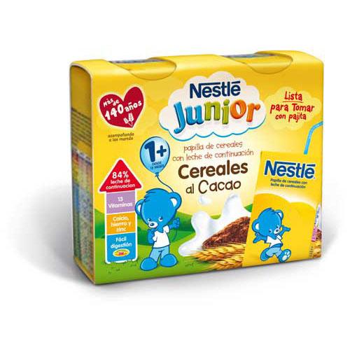 Nestle papilla cereales al cacao - lista para tomar (brik 250 ml 2 u)