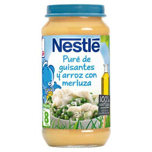 Nestle pure de guisantes y arroz con merluza (250 g)
