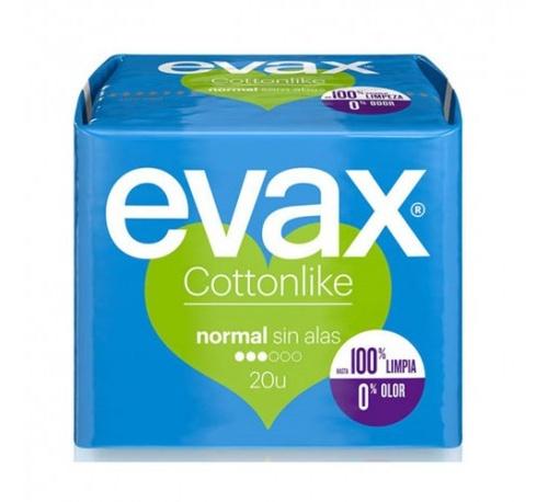 Compresas higienicas femeninas - evax cottonlike (normal 20 compresas)