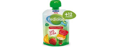 Pedialac ñam - hero baby (100 g bolsita platano fresa y manzana)
