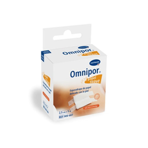 Esparadrapo hipoalergico - omnipor (de papel 5 m x 2.5 cm con dispensador)