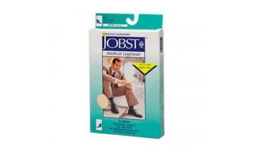 Media corta (a-d) comp normal 140 den - jobst medical legwear (beige claro t-2)