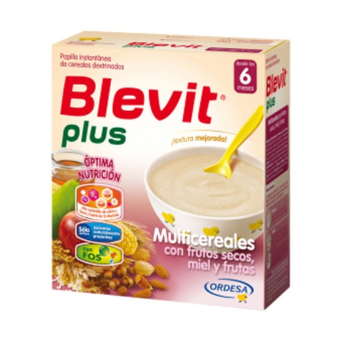 BLEVIT PLUS MIEL FRUTOS SECOS Y FRUTAS - MULTICEREALES (300 G)