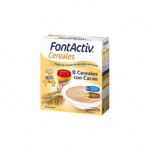 Fontactiv 8 cereales + cacao (600 g)