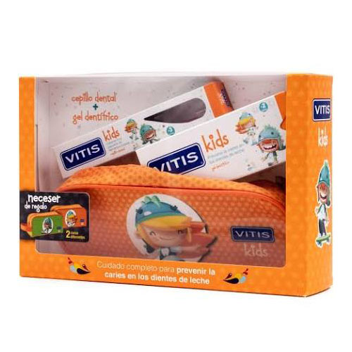 Vitis kids gel dentifrico + cepillo + gadget (50 ml)