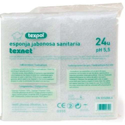 Texpol esponja enjabonada desechable (24 esponjas)