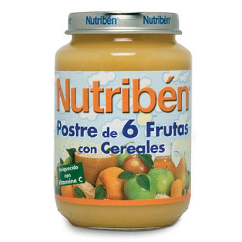 Nutriben postre de 6 frutas con cereales (potito junior 200 g)