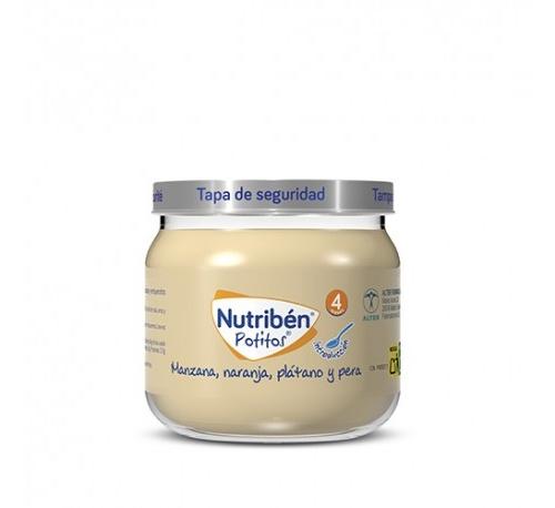 Nutriben potito inicio a las multifrutas - manzana naranja platano y pera (120 g)