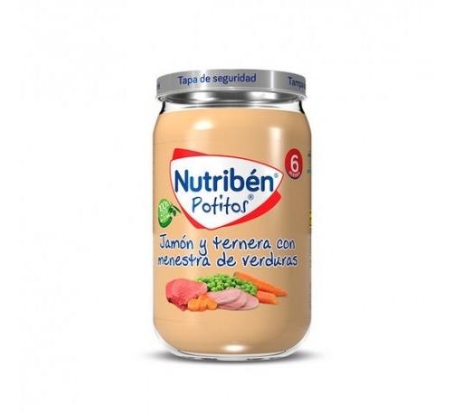 Nutriben pollo y ternera con verduritas (potito 235 g)