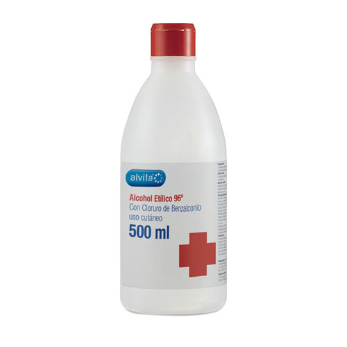 Alcohol 96º - alvita (1 frasco 500 ml)