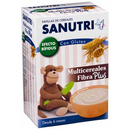 Sanutri papilla multicereales fibra plus - fos con gluten (600 g (300 g 2 bolsas))
