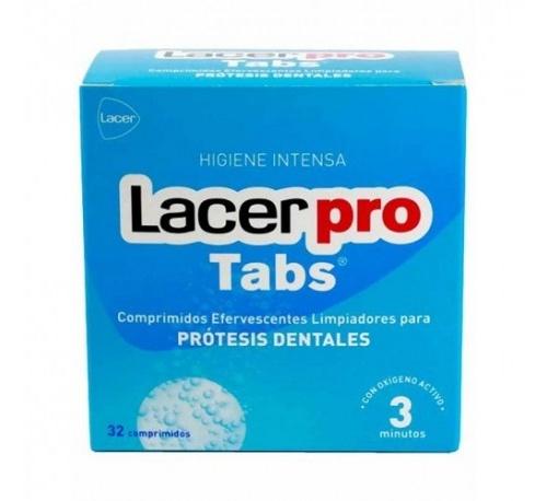 Lacerpro comprimidos efervescentes - limpieza protesis dental (32 comprimidos)