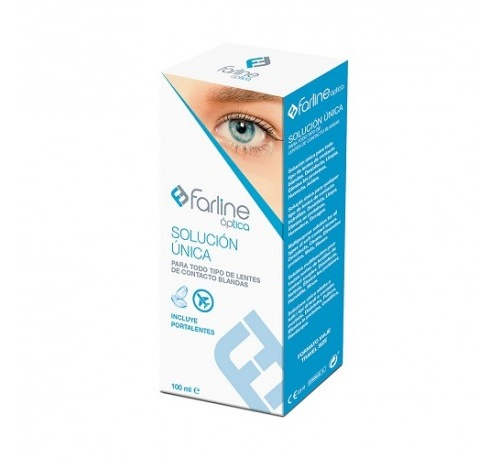 Farline optica solucion unica lentes de contacto (100 ml)