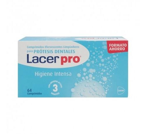 Lacerpro comprimidos efervescentes - limpieza protesis dental (64 comprimidos)