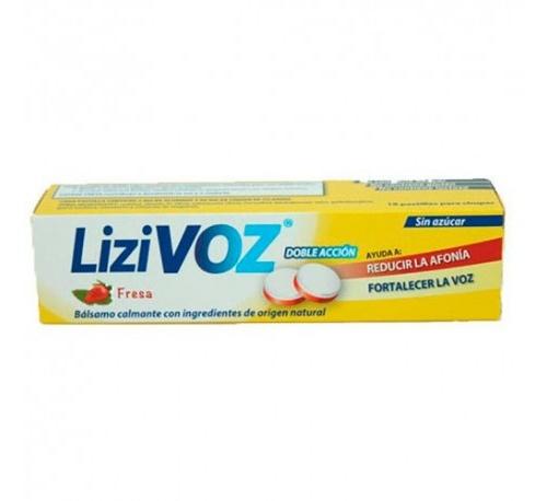 Lizivoz (fresa18 pastillas para chupar)