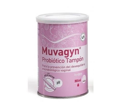 Muvagyn probiotico tampon  vaginal (mini c/ aplicador 9 tampones)