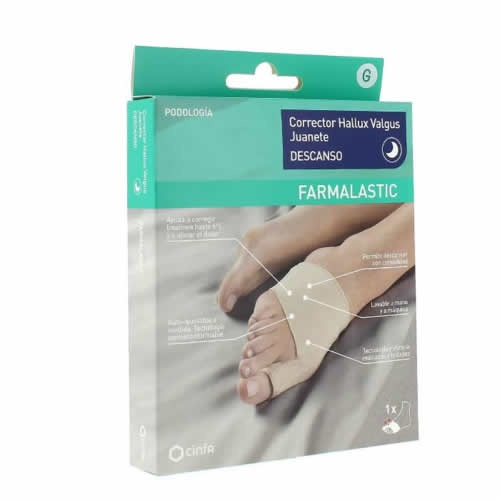 Corrector juanete descanso - farmalastic feet (talla g)