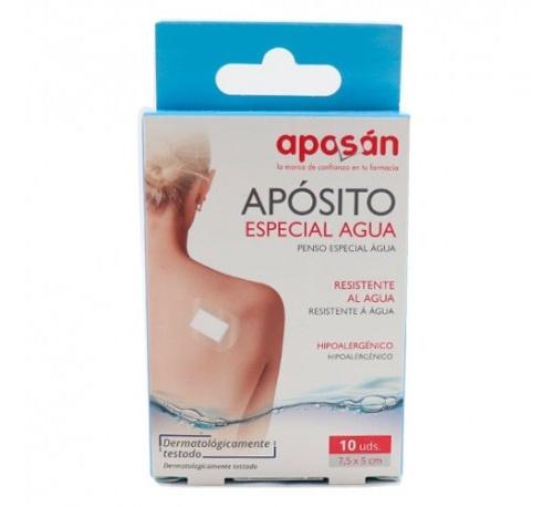 Aposan aposito especial agua - aposito esteril (7.5 x 5 cm 10 u)