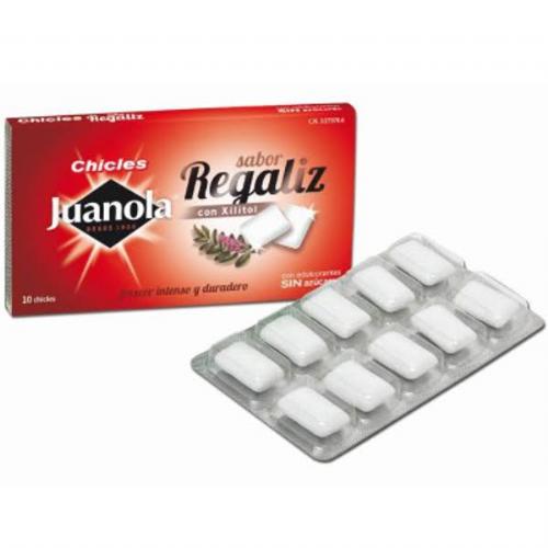 Juanola chicle regaliz sabor clasico (10 g)