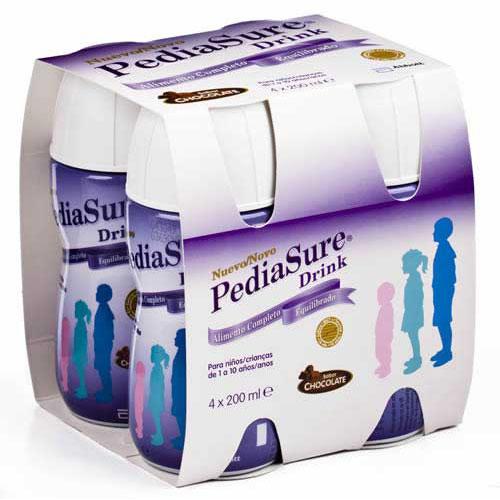 Pediasure drink (200 ml 4 botellas chocolate)