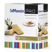 Bimanan metodo pro snack tostas aceite oliva - hiperproteica e hipocalorica (12 tostas)