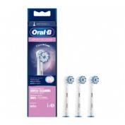 Cepillo dental electrico recargable - oral-b sensitive clean (recambio 3 unidades)