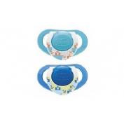 Chupete caucho - chicco physio compact anatomico (6-12m azul 2 u)