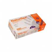 Naturflex guante vinilo t/m s/polvo 100 un