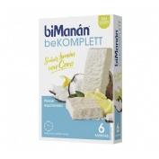 Bimanan bekomplett snack (limon coco 6 barritas de 35 g)