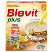 Blevit plus superfibra 8 cereales y miel (600 g)
