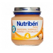 Nutriben manzana naranja platano y galleta (potito inicio 130 g)