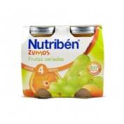 Nutriben zumo frutas variadas (130 ml 2 u bipack)