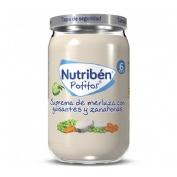 Nutriben suprema de merluza con guisantes zanahorias (potito 235 g)
