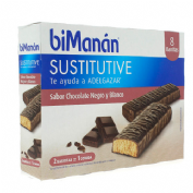 Bimanan barrita chocolate negro y blanco (40 g  8 barritas)