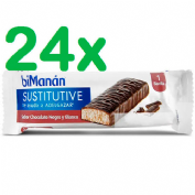 Bimanan barrita chocolate negro y blanco (40 g  24 barritas)