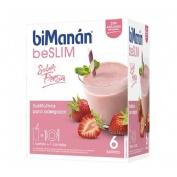 Bimanan beslim sustitutivo batido (fresa 330 g 55 g 6 sobres)