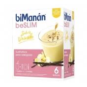 Bimanan beslim sustitutivo batido (vainilla 330 g 55 g 6 sobres)