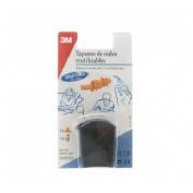 Tapones oidos silicona - 3m agua (2 u)