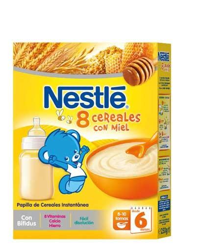 Nestle papilla 8 cereales con miel (250 g)
