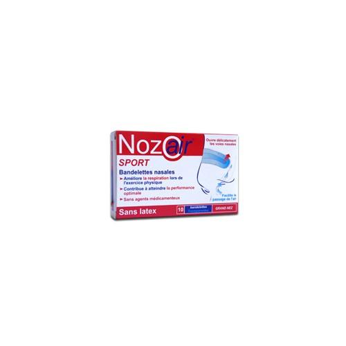 Nozoair - tira adh nasal (color transp t- peq-med 10 u)