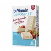 Bimanan bekomplett snack barritas (cheesecake con fresa 6 barritas de 35 g)